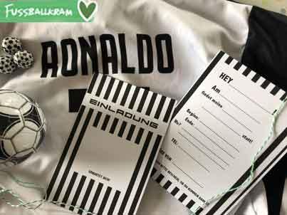 Einladungskarte Ronaldo